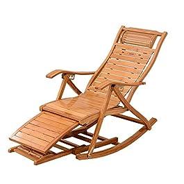 DLDL Recliner Adulte Rotin Chaise à bascule Balcon Chaise Chaise en osier Chaise de loisirs Chaise pliante