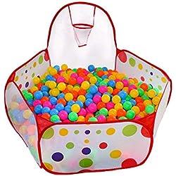 Cozywind Piscina de Bola,Tienda de Juego para los Niños con Cesta de Pelota,120cm,las Bolas no Incluyen.