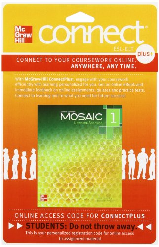 Mosaic Level 1 Student Registration Code for Connect ESL (Stand Alone)