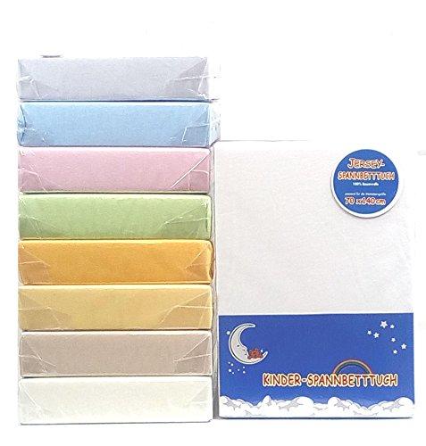 Hahn Jersey-Spannbettlaken für Kinderbett, 70x140 cm, creme
