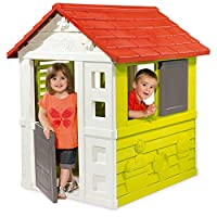 Smoby Wendy House and Playhouse for Kids | Colorful Kids Playhouses for Garden | Easy to Assemble | Made from Durable & Weatherproof anti-UV Plastic | For ages 2+ years