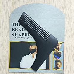 black with package : 1PC Beard Shaping Tool Sex Man Gentleman Beard Trim Template hair cut molding trim template beard modelling tools