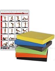 Balance Pad / Tapis d'entraînement / Coussin d'équilibre - Idéal pour le yoga, le pilates, la proprioception et la rééducation / Coloris différents