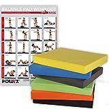 Balance Pad / Tapis d'entraînement / Coussin d'équilibre - Idéal pour le yoga, le pilates, la proprioception et la rééducation / Coloris différents (Jaune)...