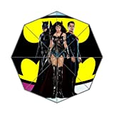 Batman V Superman Trinity Custom Foldable Rain Umbrella Resistant Vent Proof Floding Travel Umbrella