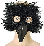 Máscara de ojo de Fancy fiesta Rook de cuervo pájaro de máscaras de Navidad con correa elástica