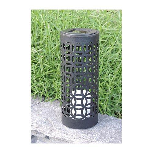 MUNDUS Lanterne solaire Otto en métal et plastique Ø10 x H24 cm - Noir 4a6bfe8407c6