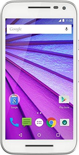 Motorola Moto G 3. Generation Smartphone (12,7 cm (5 Zoll ) Touchscreen-Display, 8 GB Speicher, Android 5.1.1) weiß (Generation Motorola G)