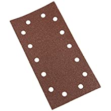 Silverline 986461 Hook and Loop 1/2 Sheets Punched - 10 Pack 60 Grit