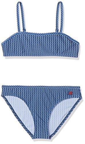 Schiesser Mädchen Badebekleidungsset Bustier-Bikini, Blau (Indigo 824), 140