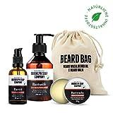 Brooklyn Soap Company: Beard Bag · Hochwertiges Bartpflege Set für Männer mit jedem Barttyp · Natürliches Bartshampoo, Bartöl & Bartwachs
