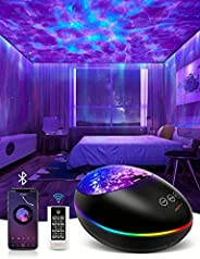 Star Projector - 8 in 1 Galaxy Projector, Star Projector Night Light with Remote Control, Bluetooth Music Spea