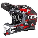 O'Neal Fury RL Hybrid Fahrrad Downhill Helm Action Cam Mount Halterung FR MTB Mountain Bike Fullface, 0499-H, Farbe Rot, Größe M