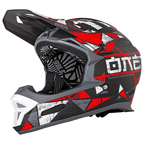 O\'Neal Fury RL Zen Fahrrad Downhill Helm Action Cam Mount Halterung FR MTB Mountain Bike Fullface, 0499-Z, Farbe Rot, Größe S
