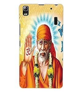 ColourCraft Lord Sai Baba Design Back Case Cover for LENOVO A7000