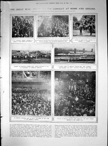 Großer Kriegstote-Bereich-Britischer Kavallerie-Vorgang Uhlans 1914 3 Seiten
