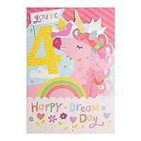 "Hallmark 4th Birthday Card ""Dream Day"" - Medium (Old Model)"