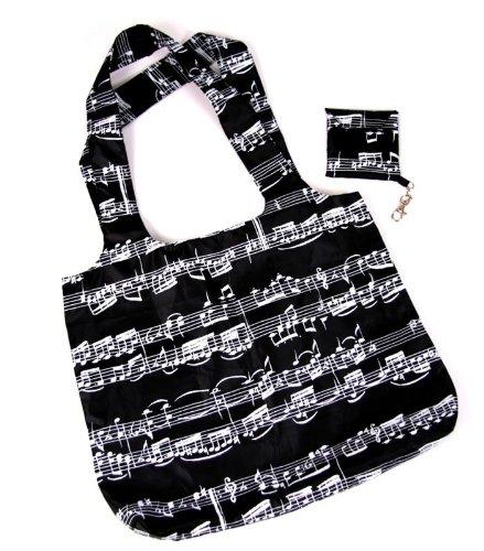 Shopping-Bag Tasche mit Notenmotiven - Schönes Geschenk für Musiker