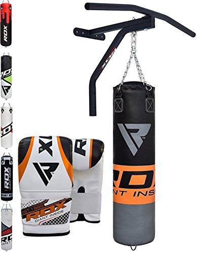 RDX Boxen MMA Sack 5FT Boxsack Klimmzugstange Set Kickboxen Sandsack Training Gefüllt Gewicht