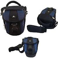 Case4Life Negro / Azul Funda Bolsa para cámaras réflex para Nikon SLR D Serie - D3100, D3200, D3300, D3400, D4, D40, D5, D500, D5100, D5200, D5300, D5500, D700, D750, D7100, D7200, D800, D810, D810A