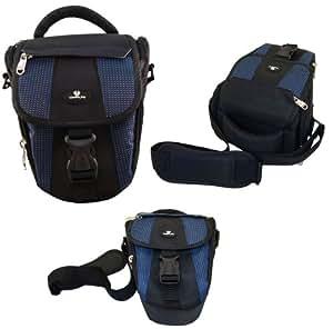 Case4Life Black/Blue Digital SLR Camera Case Holster Bag for Pentax K, X, 645, 67 Series inc K1, K70, 645Z, K-50, K-500, K-30, K-3, K3 II, K-S1, K-S2, X5, XG1 - Lifetime warranty