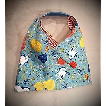KINDER Bentotasche 2tlg ⚘ Einhorn ⚘ Regenbogencharm ⚘ Origamibag ⚘ Einkaufsbeutel ⚘ Stofftasche ⚘ Geschenktasche ⚘ Täschchen