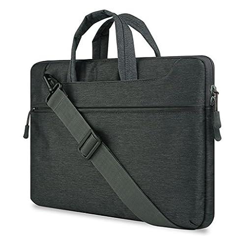 Laptop Handbag Pour 11.0-12.0 Pouce Ordinateur Portable,Polyester Antichoc Notebook Computer Briefcase Sacoche / Sac à main / Shoulder Bag / Messenger Bag / Tablette Étui Cover Pour Apple MacBook Air 11.6'' / Macbook Retina 12.0'' / Asus Zenbook / Lenovo / Samsung / Dell / HP / Acer / Sony / Chromebook (Noir)