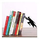 LBC-bookend Serre-Livres créatif en métal Superman Batman - Support de Bureau - Fournitures Scolaires de Bureau - Papeterie - Cadeau - Décoration d'intérieur - Antidérapant a...