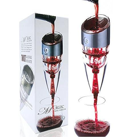snaideal Magic Wein Dekanter Professional rot/weiß Wein Luftsprudler Geschenk-Set mit