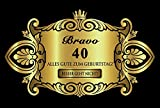 Oblique Unique® Aufkleber Flaschenetikett Etikett 40 Geburtstag Gold elegant