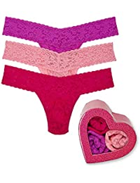 fd93016b3 Hanky Panky Women s Valentines Day 3 Low Rise Thongs