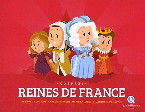 COFFRET REINES DE FRANCE(4liv.+1poster)