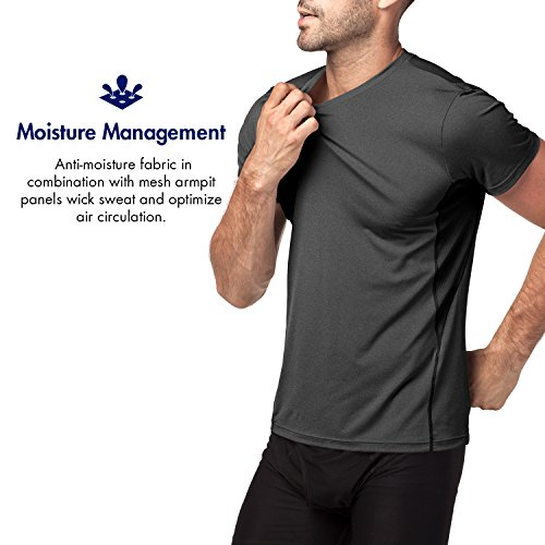 Lapasa-Uomo-T-shirt-Performance-Cupro–TECNOLOGIA-ANTIODORE-Sport-Running-Palestra