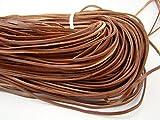 Lederband Flach Eckig 3 mm x 2 mm. Braun. 5 m Länge: wählbar