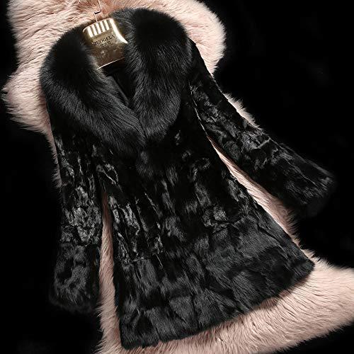 ZYJANO Warmer Mantel,Echtes Stück Jacke und Saum Herbst Winter FrauenOberbekleidung Mäntel Kleidung 2