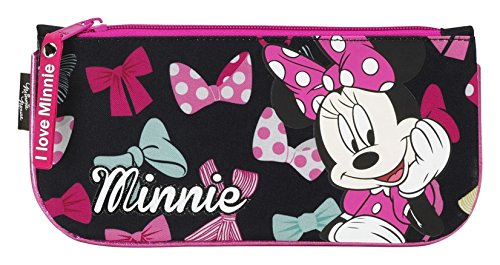 Minnie Mouse- Estuche portatodo Plano, Color Rosa (SAFTA 811548028)