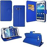 Funda carcasa cartera soporte Video libro tapa piel sintética para Samsung Galaxy Grand 2SM-G7100SM-G7102SM-G7105SM-G7106