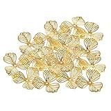 B Baosity 20pcs Base de Flores de Oro Espaciadores de Artesanías Accesorios para Proyectos de Manualidades
