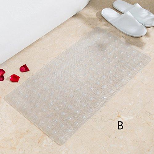 LYJ Tapis de bain Salle de bain Tapis antidérapant Les tapis de porte Toilette étanche Salle de bain Tapis de sol Tapis de solaire avec ventouses Séchage rapide ( Couleur : B )