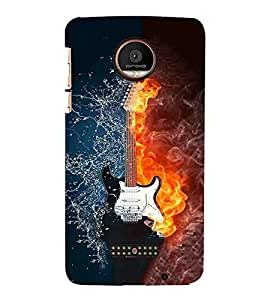 For Coolpad Max nice guitar, guitar, burning guitar, water, smoke Designer Printed High Quality Smooth Matte Protective Mobile Pouch Back Case Cover by BUZZWORLD