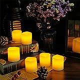 Eldnacele Flickering Flameless Kerzen 2 Zoll Echtwachs Batterie betrieben Kerzen mit 6H Timer und 12 CR2032 Batterien für die Heimtextilien