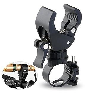 Vorcool Taschenlampen-Halterung für Fahrradlenker 360Grad drehbar Klammerbefestigung (schwarz)