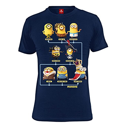 Minions Maglia T Shirt Through The Ages Size L