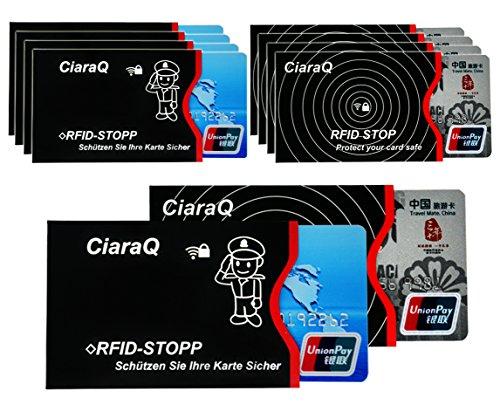 RFID-Schutzhülle, 10 Stück RFID & NFC Blocking Schutzhülle für EC-Karte, Bankkarte, Personalausweis, Kreditkarte - 100% Datenschutz vor NFC Funk-Chips, Kratzern und Betrughl (10pcs) -