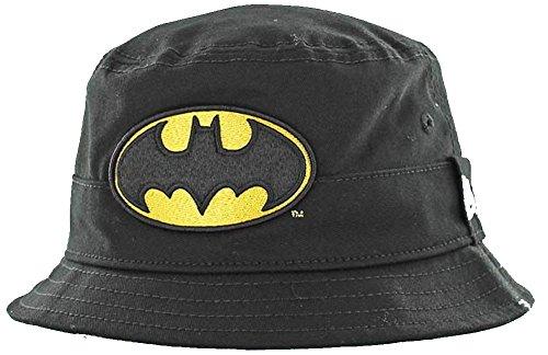 New Era Batman Character Bucket Hat Child Black Sonnenhut Kids DC Comics