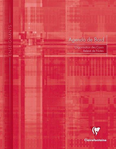ClaireFontaine - Réf 9369C - Un Agenda de Bord 6 Colonnes (48 cases/semaine) Brochure Souple 24x32 cm 144 Pages Coloris Aléatoire vendu à l'Unité