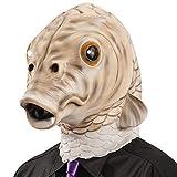 Carnival Toys - Máscara de látex pez con encabezado, color beige (1431)