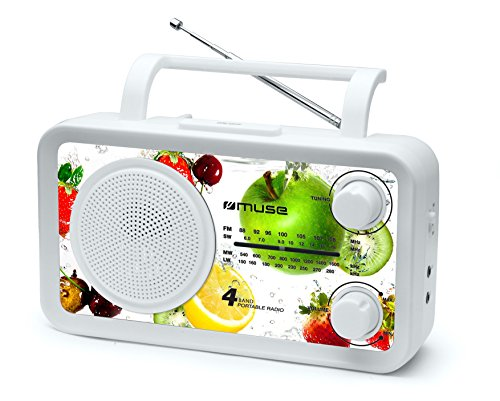 Muse M-05 VF Radio Portable 4 Gammes d'ondes Multicolore