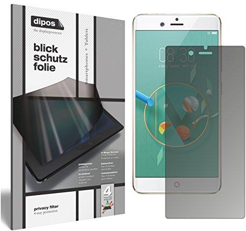 dipos I Blickschutzfolie matt passend für ZTE Nubia Z17 Minis Sichtschutz-Folie Display-Schutzfolie Privacy-Filter