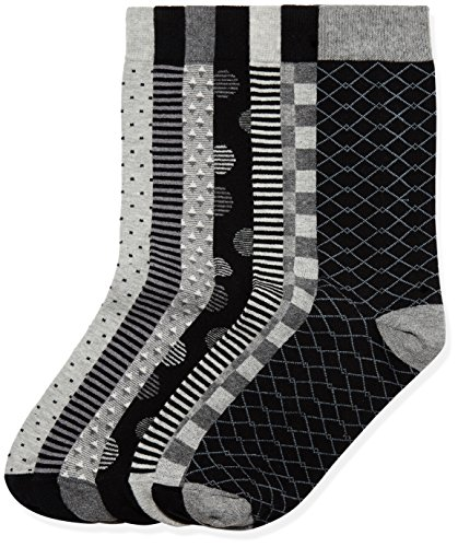 find. Herren Socken 7er-Pack, Schwarz (Grey Black Mix), 43.5-47 EU (9.5-12 UK) (Herstellergröße:Large)